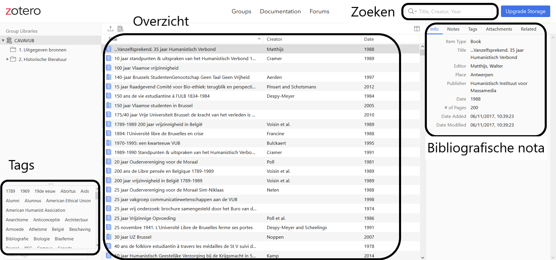 Screenshot Zotero